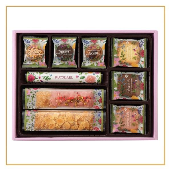 ロイスダールギフト フラワーパッケージ<アマンドリーフ×3、ストロベリーショコラリーフ×3、クッキー7種計27枚>