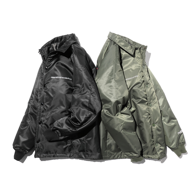 BLACK SPACESHIP BOA COACH JACKET