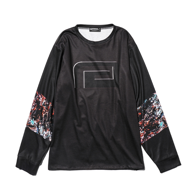 BLACK GLITTER DRY LONG SLEEVE