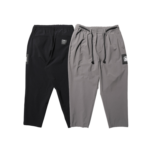 STRETCH NYLON TAPERED PANTS