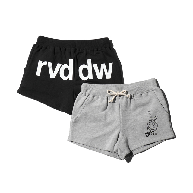 HELLO KITTY×rvddw POLEDANCE SWEAT SHORTS