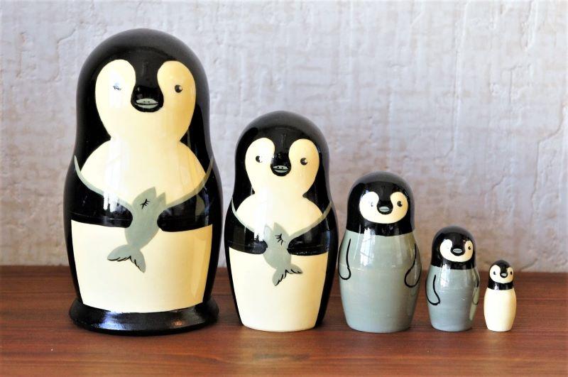 ペンギン・ペンギン・ペンギン!!! マトリョーシカ 5ピース(M)  /13cm
