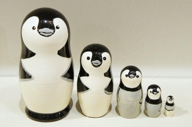 ペンギン・ペンギン・ペンギン!!! マトリョーシカ 5ピース(S)  /10.2cm