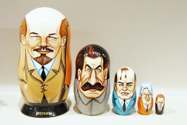 ソ連&ロシア最高権力者(レーニン・スターリン・ゴルバチョフ・エリツィン・プーチン)  5ピースマトリョーシカ/16cm
