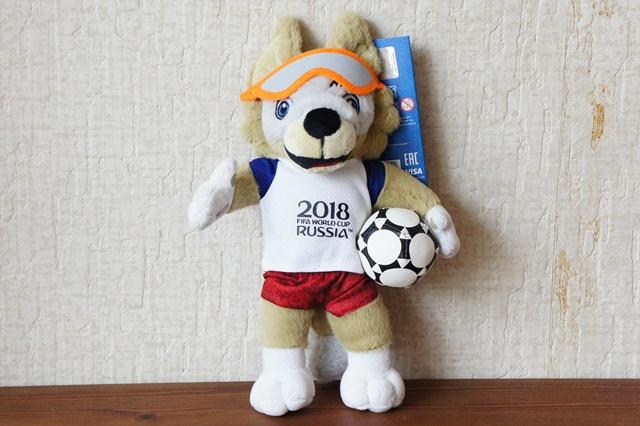 【SALE】FIFAサッカーワールドカップ2018 公式マスコット・オオカミのザビヴァーカぬいぐるみ 28cm
