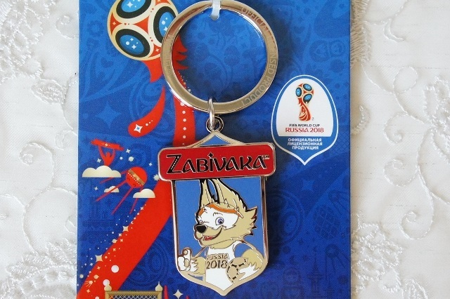 【SALE】FIFAサッカーワールドカップ2018 公式マスコット・オオカミのザビヴァーカ メタルキーリング 【クリックポスト送付可】