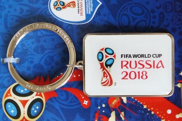 【SALE】FIFAサッカーワールドカップ2018 公式エンブレム メタルキーリング 【クリックポスト送付可】