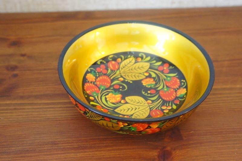 ホフロマ塗り イチゴ&ベリー浅鉢 φ14.5×5cm