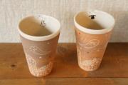 前川妙子 おばけちゃんタンブラー/ 直径φ9.2cm×高さ12.5cm
