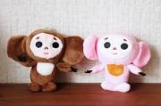 ふわふわチェブラーシカぬいぐるみ(S) <ブラウン>&<ピンク> 2色 /11cm 【定形外200円送付可】