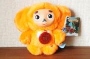 ロシア語おしゃべり チェブラーシカぬいぐるみ(S) <オレンジ> / 14cm