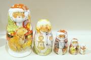イリーナ&イリーナ作 マトリョーシカ 5ピース <メリークリスマス> /12.5cm