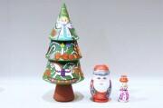イリーナ工房 メルヘンヨールカ(クリスマスツリー)マトリョーシカ 3ピース/ 14.5cm