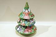 イリーナ工房 ヨールカ(クリスマスツリー)・ネヴァリャーシカ(起き上がりこぼし)<Mサイズ>/14cm