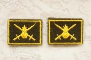 ロシア陸軍・歩兵 襟章2個セット 通常用/ベルクロ(マジックテープ)付 【クリックポスト185円発送可】