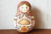 リャボヴァ作 ロシアのサンタ・ジェド=マロース 木彫り人形<モミの木> / 17.5cm 【送料無料】
