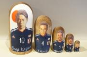 【予約販売】FIFAワールドカップ2018 サッカー日本代表マトリョーシカ<香川/本田/長友/岡崎/長谷部> 5ピース /18〜18.5cm
