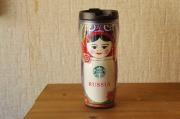 ロシア/モスクワ限定!Starbucks スターバックス マトリョーシカタンブラー Lサイズ(グランデ) 16oz 473ml