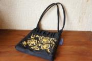 トルジョーク金糸刺繍 シルク手提げバッグ <優しさ> 20×18.5×3cm  【クリックポスト185円送付】