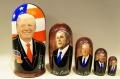 アメリカ合衆国大統領(トランプ、W・ブッシュ、H・W・ブッシュ、レーガン、ニクソン) 5ピースマトリョーシカ /19cm
