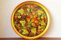 ホフロマ塗り φ30cm木製丸盆(大皿) <イチゴ&ラズベリー>