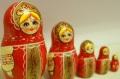 キーロフ・マトリョーシカ(M) <赤い民族衣装> 5ピース/11cm