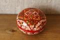 ロシアの伝統的工芸 北ドヴィナ塗り<ペルマゴーリエ塗り>小箱 φ7×5cm /ミトローヒナ作
