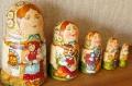 スミルノーヴァ(タチアナ)作 ロシア民話マトリョーシカ 5ピース <コロボック(おだんごパン)> / 18.5cm【送料無料】