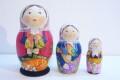 バボーヴァ作 ペイントマトリョーシカ 3ピース <リスちゃんとウサギさんとハリネズミくん> / 10.4cm 【送料無料】