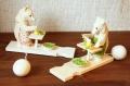 バガロツカエ・木のからくりおもちゃ 料理をするクマ <カラーバージョン> 2種