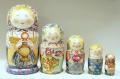 ダノーヴァ作 民族衣装マトリョーシカ 5ピース <白ずきんちゃん/ティータイム> / 18.5cm【送料無料】