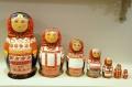 ダラフェエヴァ作 民族衣装マトリョーシカ 7ピース<カルーガ、オリョール、クルスク、トゥーラ、リャザン、モスクワ、トゥーラ> /20cm 【送料無料】