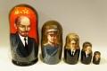 ソ連指導者・書記長(レーニン・スターリン・ブレジネフ・ゴルバチョフ)+プーチン 5ピースマトリョーシカ /18cm