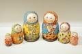 エレーナ・ドミートリエヴァ作 ペイントマトリョーシカ 3ピース <赤ちゃん><ネコ> 2種類/ 7cm 【送料無料】