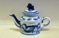 ロシアの陶器 グジェーリ焼 ティーポット 1〜2人用 Aタイプ /φ8(16)×12cm