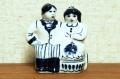 グジェーリ陶器人形 結婚式 ~花嫁さんと花婿さん~ /8.1×9cm