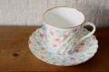 インペリアルポーセレン(ロマノーソフ) フリザンテーマ(菊) コーヒーカップ&ソーサー
