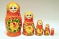 キーロフ・マトリョーシカ(M) <黄色いバラ> 5ピース/11cm
