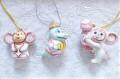 ラヴローフ工房 吊り下げ陶器人形 <チェブラーシカ、ゲーナ> 3種類/ 4.2~6.6cm