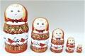マルンコーヴァ作 メゼーニ塗り 赤ずきんちゃんマトリョーシカ(S) 5ピース 5種類/10~10.5cm