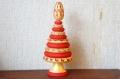 マルンコーヴァ作 メゼーニ塗り クリスマスツリー(ヨールカ)11段/知育玩具 /24.5cm