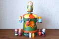 ニキーチン工房作 「サーカスのメリーゴーラウンド」 オルゴール付きマトリョーシカ 人形8+1+3個+箱1ピース/21cm【送料無料】