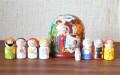 ニキーチン工房作 「キリスト(フリストス)降誕」 ドーム型マトリョーシカ(S) 人形8+箱1ピース/10.5cm