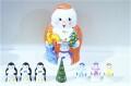 オリガ・ミッチナ作 クリスマス・ジェド=マロース(ロシアのサンタ)マトリョーシカ <雪だるま&ペンギン&ツリー> 7+1ピース/11cm