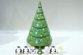 オリガ作 クリスマス・ヨールカ(ツリー)マトリョーシカ <雪だるま&ペンギン&ツリー> 7+1ピース/15cm