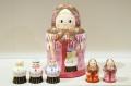 オリガ作 ボトル型 お母さんマトリョーシカ こども5人タイプ <男の子3人と女の子2人>/11.2cm 【送料無料】