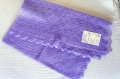 ヤギの産毛を使った繊細なオレンブルグ・ショール 「パウチンカ」 100×100cm/ 紫【送料無料】