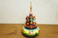 ロシア正教/聖ワシリー寺院 オーナメントオルゴール<モスクワ> 曲目:カチューシャ/21.5cm