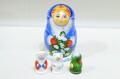 クリスマス・聖なる夜のマトリョーシカ 5ピース <キリスト(フリストス)・マリア・ヨセフ>/18cm