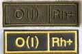 ロシア軍 血液型パッチ O型(1型) 戦地用/通常・式典用 ベルクロ(マジックテープ)付 【クリックポスト送付可】